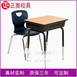单人学校中小学生桌椅美术托管辅导培训班家课桌
