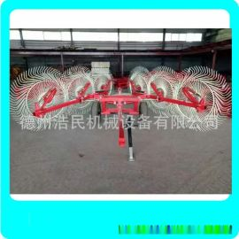 指盤式摟草機廠家多盤牽引式摟草機 內蒙新疆地區牧草摟草機械