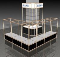 瑞达展架厂生产定制各规格铝合金货架 组合型货架 展示架 铁货架厂