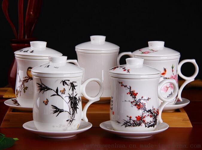 陶瓷杯批发价格 景德镇陶瓷厂 陶瓷杯子定制厂家 万业陶瓷