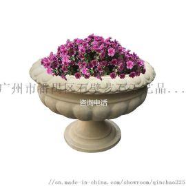 户外景观花盆雕塑 人造砂岩花钵 别墅花园雕塑花钵
