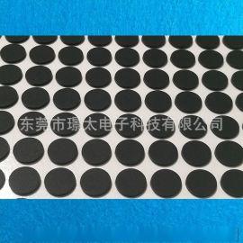 硅胶脚垫 自粘硅胶防滑垫 耐磨自沾黑**格橡胶垫 圆形防滑减震橡胶垫圈 橡胶脚垫模切定制