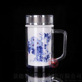 定制**双层陶瓷保温杯
