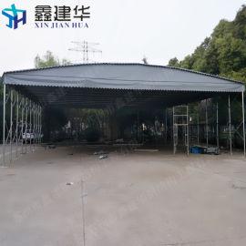 淮安市户外移动推拉遮阳棚定做_大型电动推拉雨棚安装