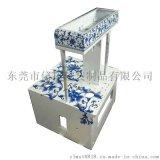 青花紋傢俱水移畫貼紙加工家居水貼紙來圖定製