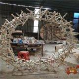 抽象烤白漆不锈钢雕塑户外景观不规则圆环雕塑生产厂家