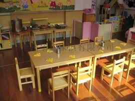 厂家直销幼儿松木家具  环保幼儿园家具