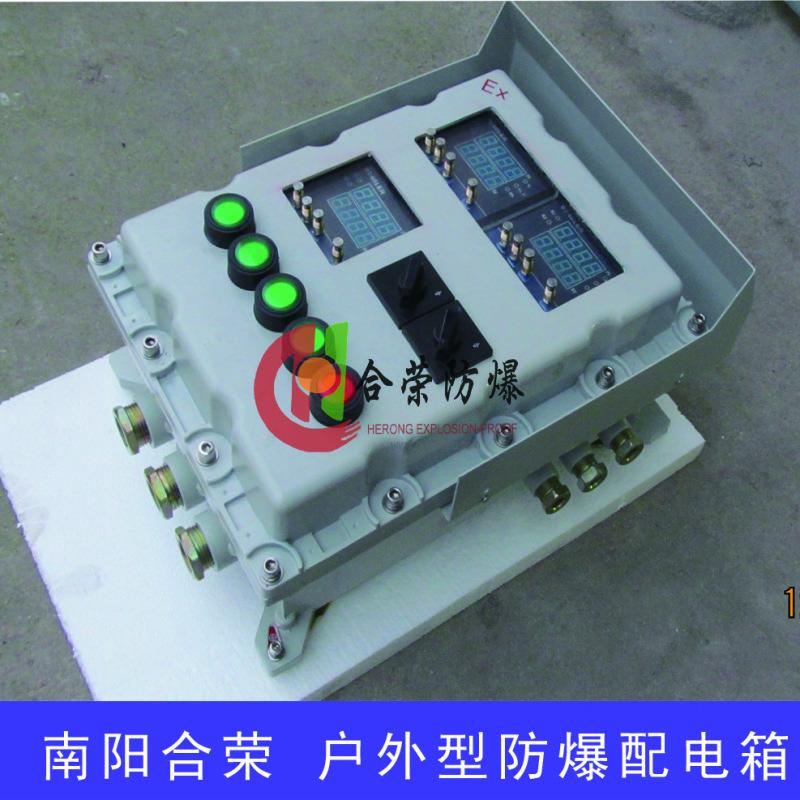 户外专用带防雨罩防爆配电控制箱,防爆照明动力配电箱