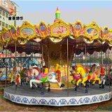 豪华转马广场儿童新型游乐设施商丘童星