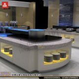 自助餐台设计 布菲台移动设备 现代餐厅装修制作