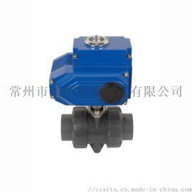 PVC电动球阀,PVC电动活接球阀