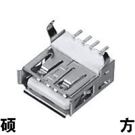 弯脚一型USB母插座USB-313