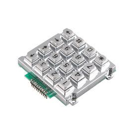 门禁防水防尘加密金属不锈钢键盘