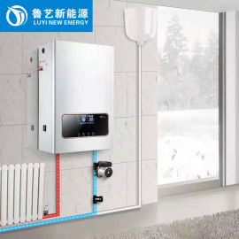 触摸屏全自动电取暖炉 暖气取暖电热水炉厂家直销