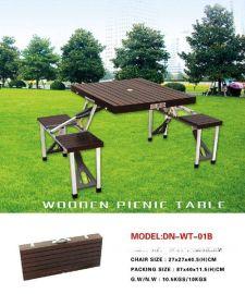 木制折叠野餐桌椅、组合桌椅