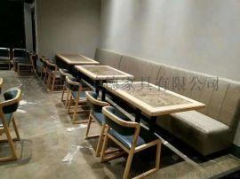 餐廳中式餐桌定做復古實木桌子餐飲傢俬廠板式餐桌圖片