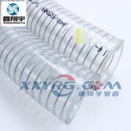 PVC透明钢丝增强软管深圳厂家直销耐负压环保无毒无味12