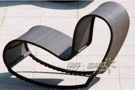 户外休闲编藤家具,庭院躺椅躺床,泳池休闲编藤躺椅,沙滩椅L0031