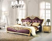 双人床欧式床古典木床古典皮床床头柜橡木床