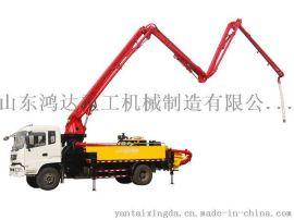 山东鸿达东风底盘24米混凝土臂架泵车