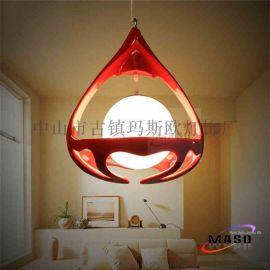 玛斯欧现代创意吊篮艺术设计树脂材质吊灯MS-P1050玻璃吊灯LED光源餐厅家居适用