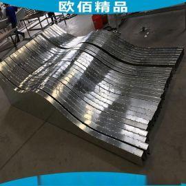 不规格波纹造型吊顶铝天花 波浪形吊顶造型铝天花