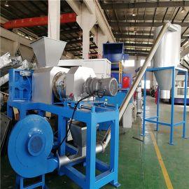 新贝机械 薄膜挤干塑化一体、农地膜塑料挤干机、大棚膜挤干机