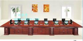 博奥11年老品牌无纸化长方形液晶屏自动升降会议桌