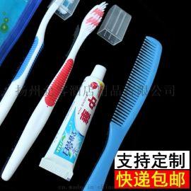 宾馆酒店洗漱套装 注胶牙刷牙膏二合一 支持定制