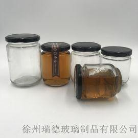 圆形酱菜瓶玻璃瓶 蜂蜜瓶果酱瓶