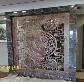 定做铝板雕刻屏风,艺术铝板浮雕镂空壁画背景墙