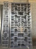 高雅仿古铝屏风  现代木纹仿古铝屏风 厂家直供