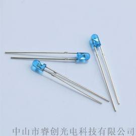 3mm蓝光LED发光二极管,465nm蓝光灯珠