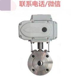 Q971F-16P 电动薄型球阀 电动对夹球阀 电动超短型球阀 DN25 DN50