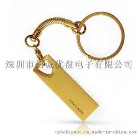 金色**礼品u盘 个性化 创意USB 礼品u盘制造商 8GB/16GB/32GBUSB DISK