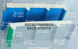新型聚氨酯(PU)夹芯屋面板/聚氨酯夹芯板/聚氨酯复合板