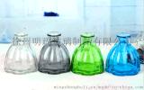 創意小口玻璃瓶精緻小花瓶單只插花花器擺件透明彩色玻璃容器裝飾