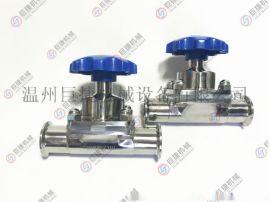 厂家直销卫生级隔膜阀 不锈钢手动隔膜阀 316L隔膜阀