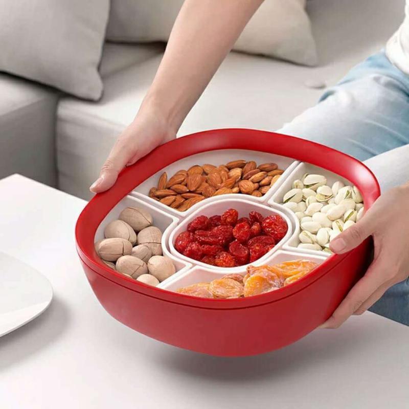 創意分格組合糖果盤時尚現代乾果盒 結婚堅果零食盒