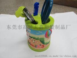 定制卡通筆筒 廣告筆筒 pvc軟膠筆筒