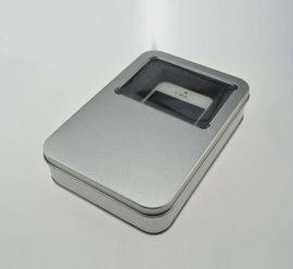 供应爱国者充电宝铁盒 移动电源礼品包装盒专业定制