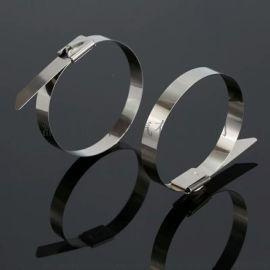 依森不锈钢扎带厂家 304金属扎线带 8*550