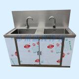 不锈钢双人溢水池 洗手池 医用双槽洗手池 洗手槽