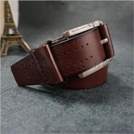 皮带订做新款皮革针扣防过敏腰带外贸腰带定制厂家货源