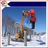 日立挖掘机,打木桩,水泥桩机