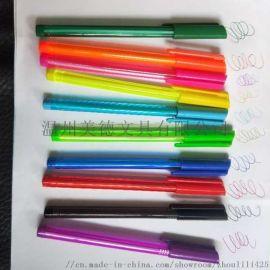 美德塑料插套简易三角礼品圆珠笔