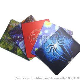 橡胶底布面彩色图案游戏网吧鼠标垫 定制促销礼品桌垫
