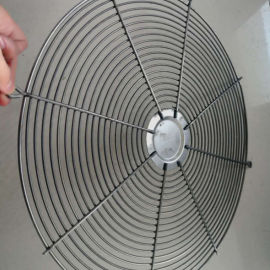环流风机铁网-扇形异型金属网罩-钢丝网罩风机罩
