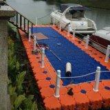 漂浮水上塑料浮桥通道 游船码头水上餐厅浮筒平台