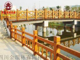 资阳木栈道厂,防腐木平台护栏栏杆定制安装